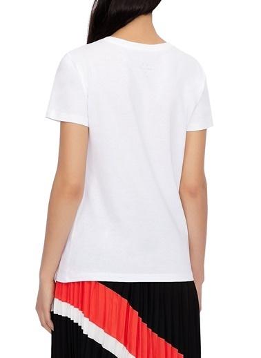 Armani Exchange  % 100 Pamuklu Bisiklet Yaka T Shirt Kadın T Shırt 3Kytka Yjw3Z 1000 Beyaz
